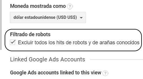 para excluir robots y arañas
